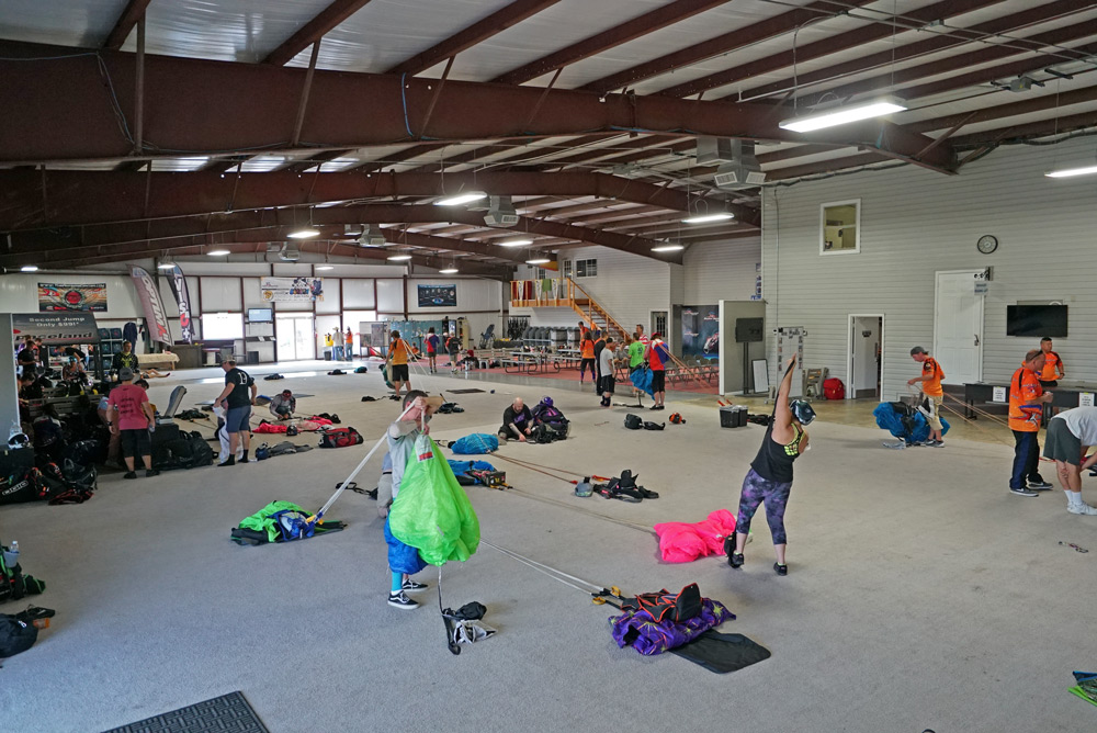 Large, air-conditioned hangar for packing. You're welcome. :)