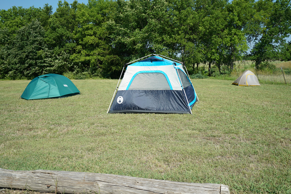 Tent camping is always free.