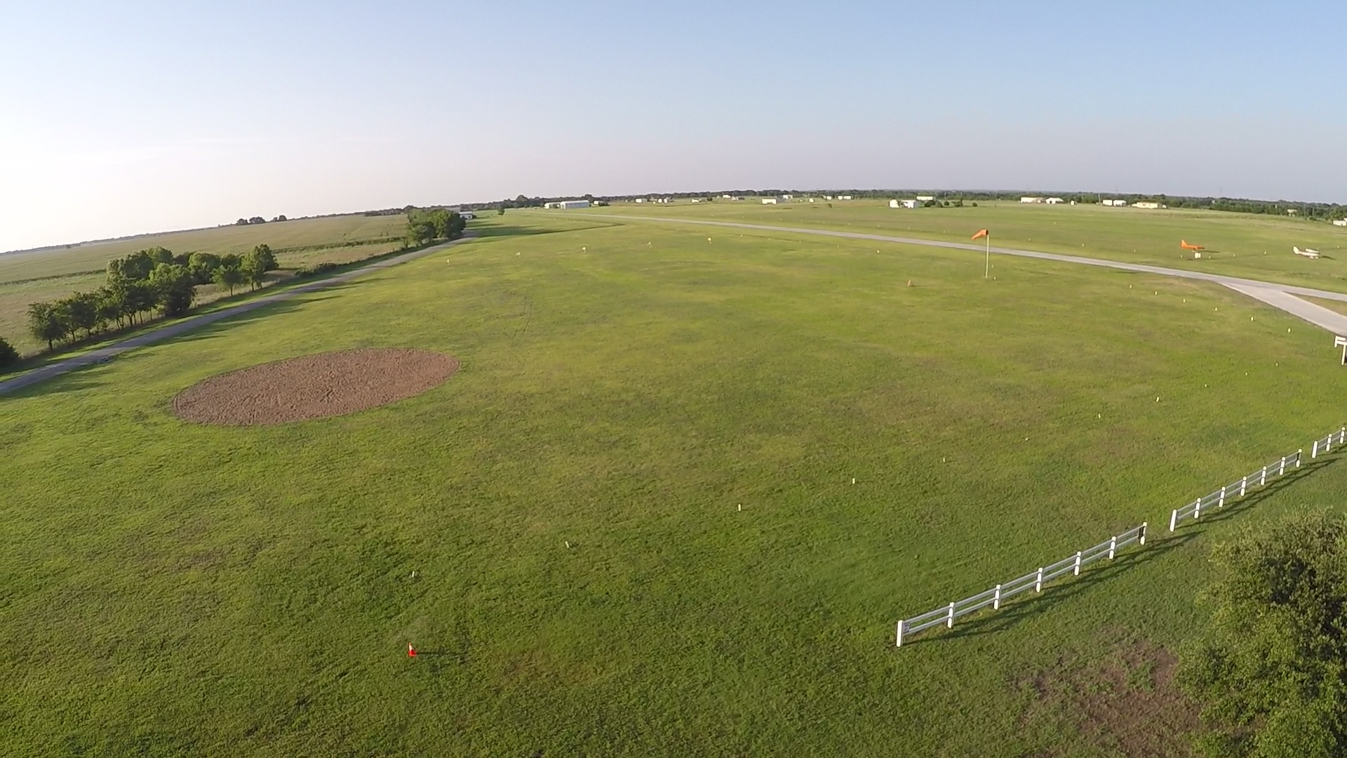 Our D license landing area is large with a cushy pea gravel pit