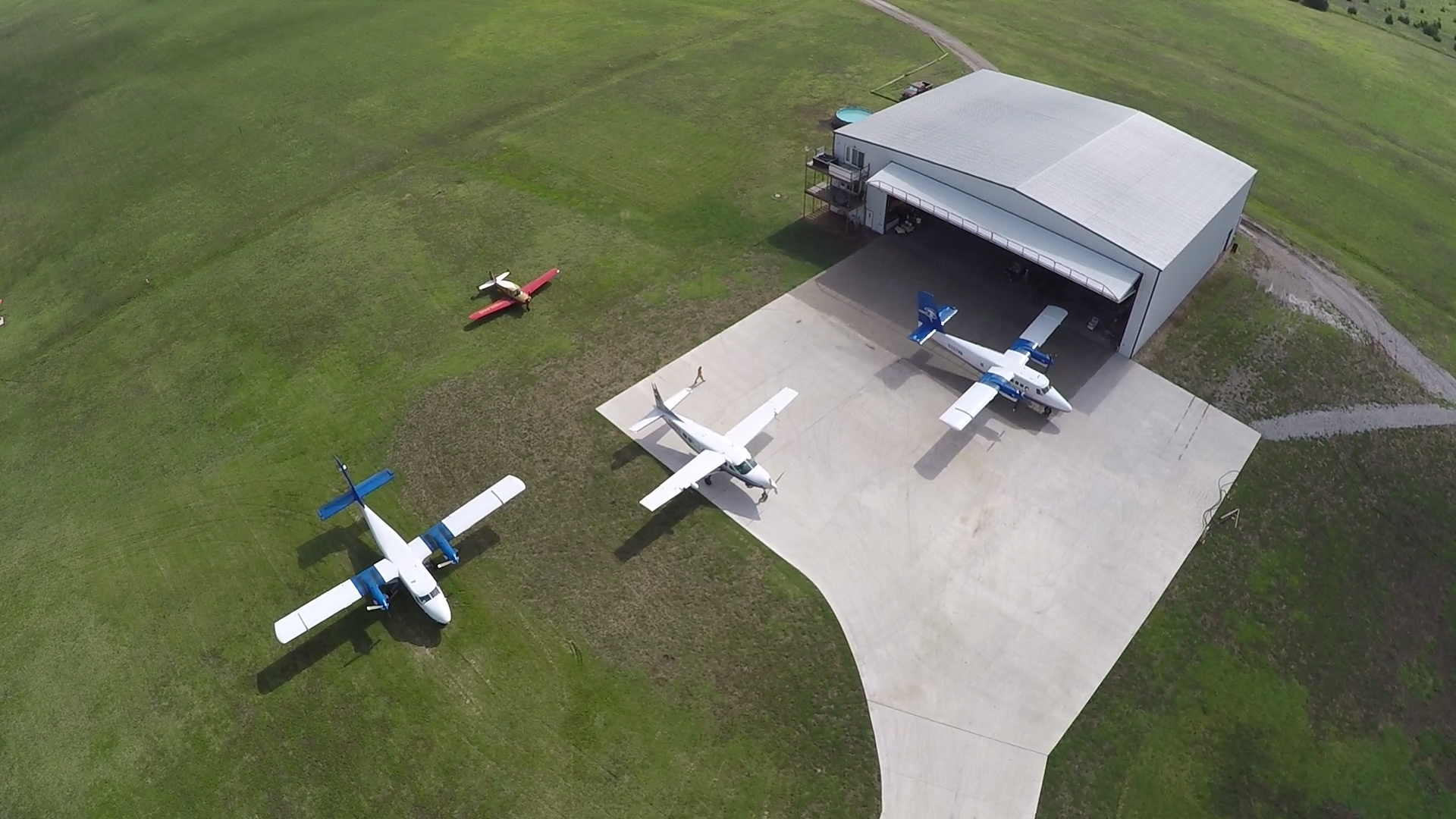 Aircraft outside our dedicated maintenance hangar