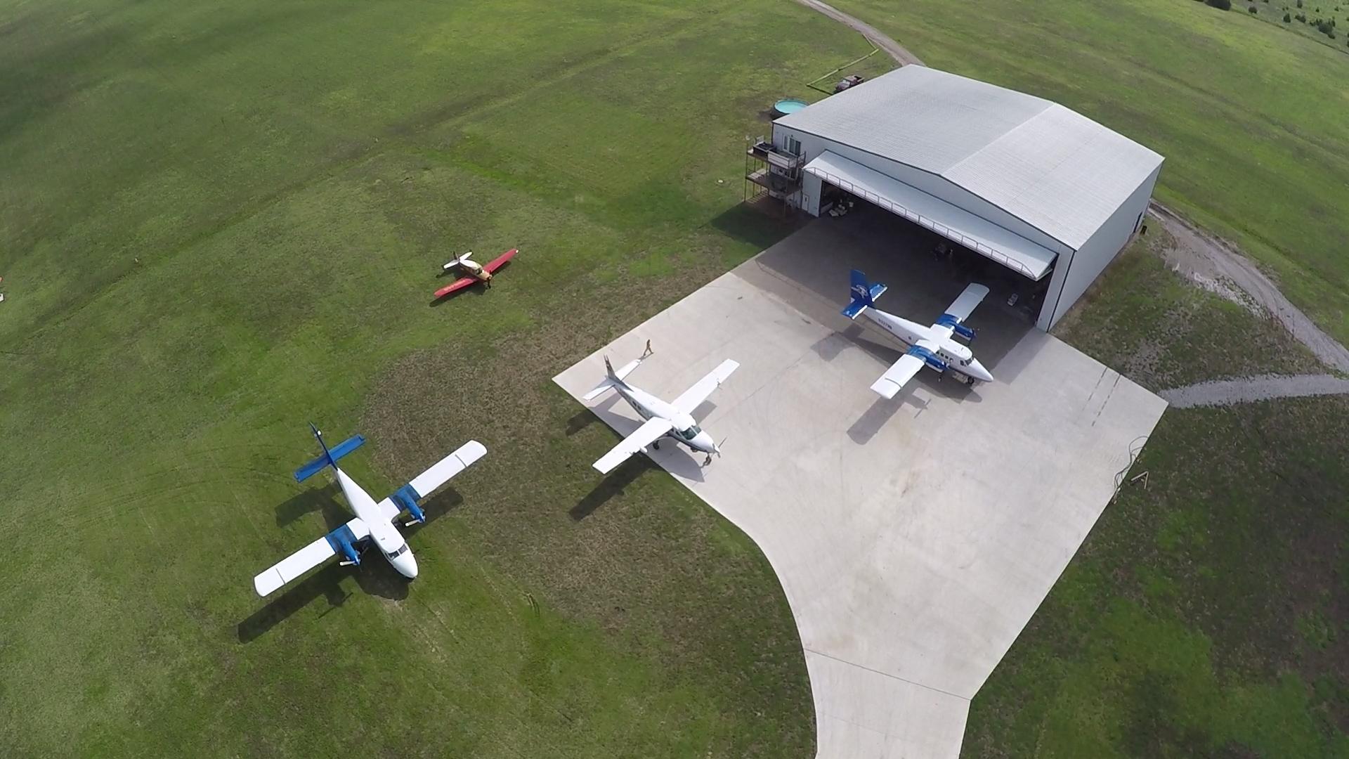 Aircraft outside our dedicated maintenance hangar