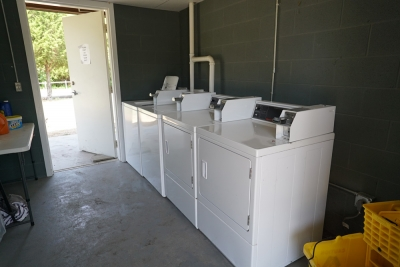 Laundry facilities in the showerhouse