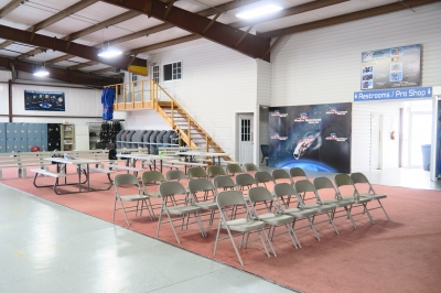 Here's where you enjoy your video with friends after your skydive!