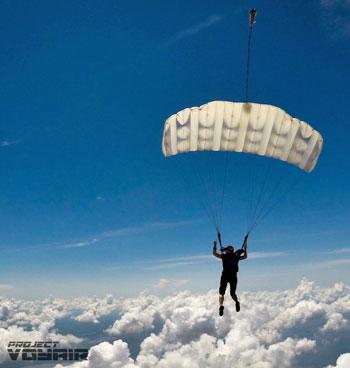 Canopy in flight