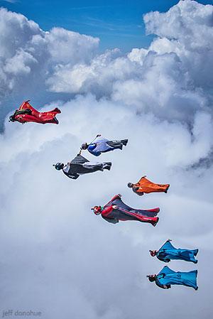 Wingsuit flock