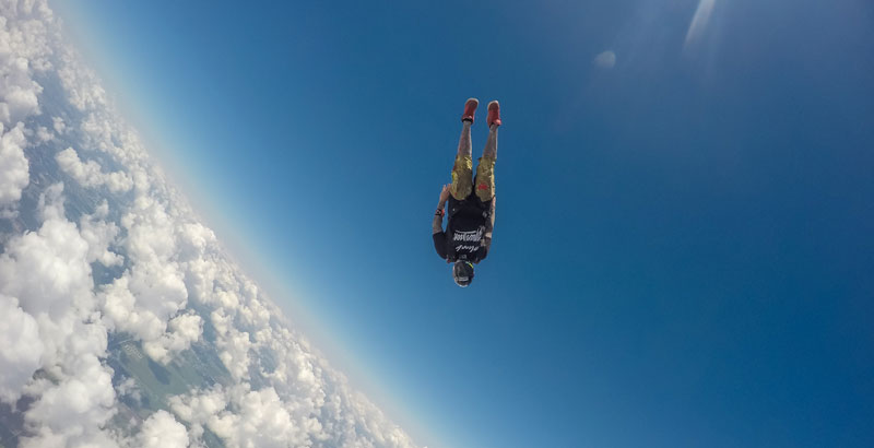 Speed skydiving with Guru Khalsa